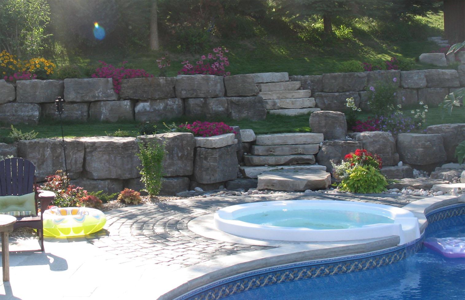 armour stone backyard