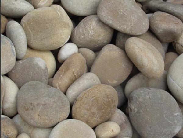 mexican beach pebbles tan