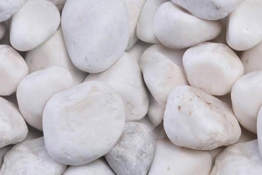 white ornate pebbles