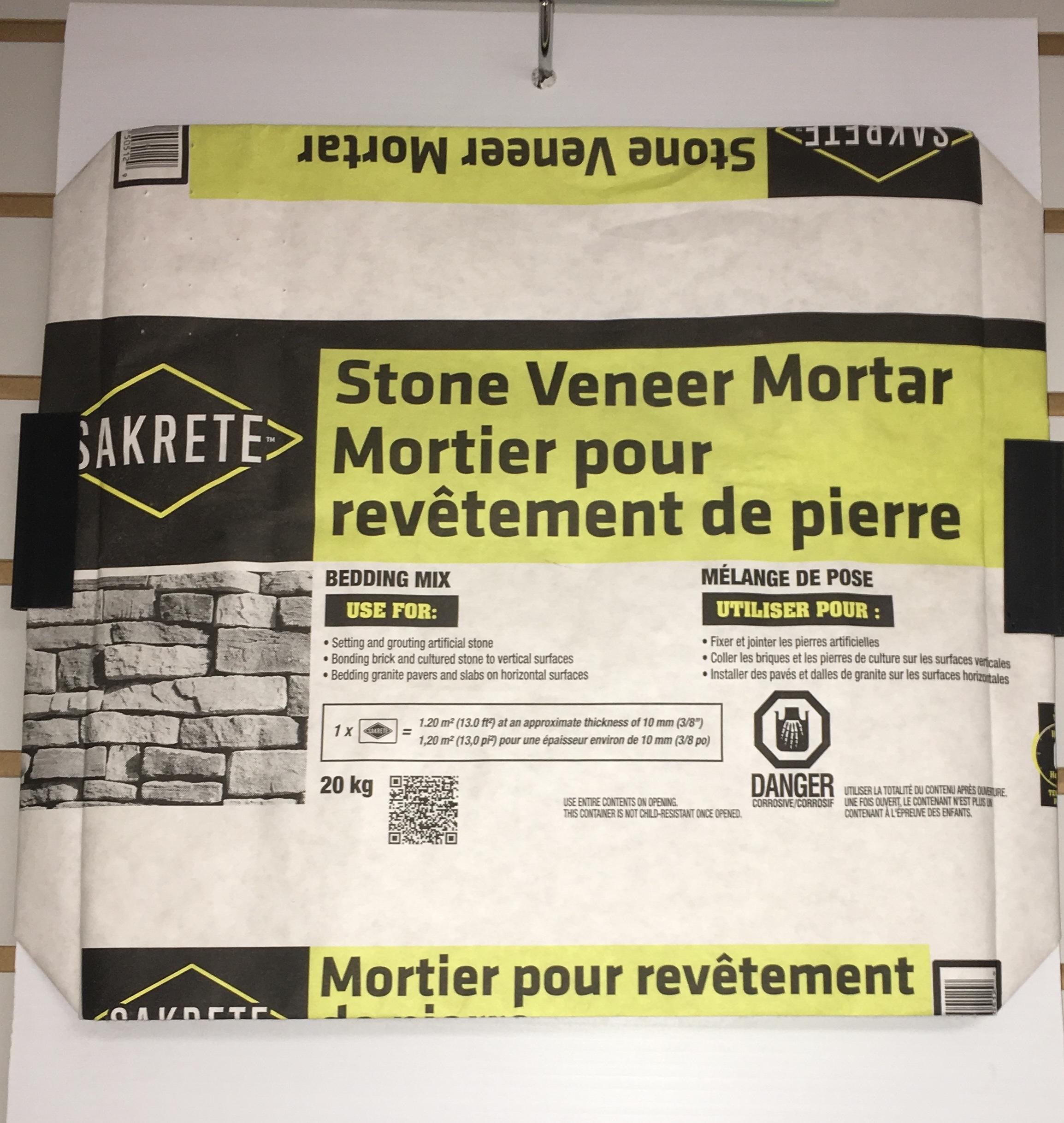 sakrete stone veneer mortar