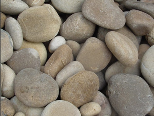 mexican beach pebbles tan